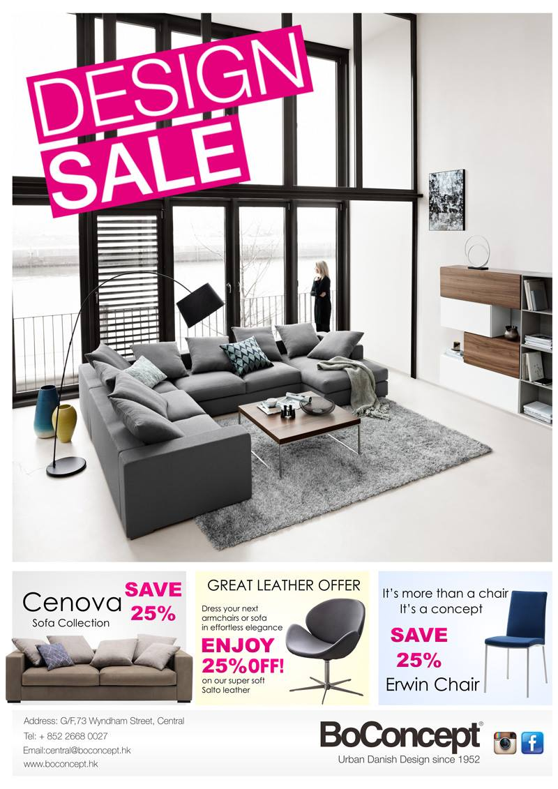 Don't miss the Design SALE by BoConcept HK!