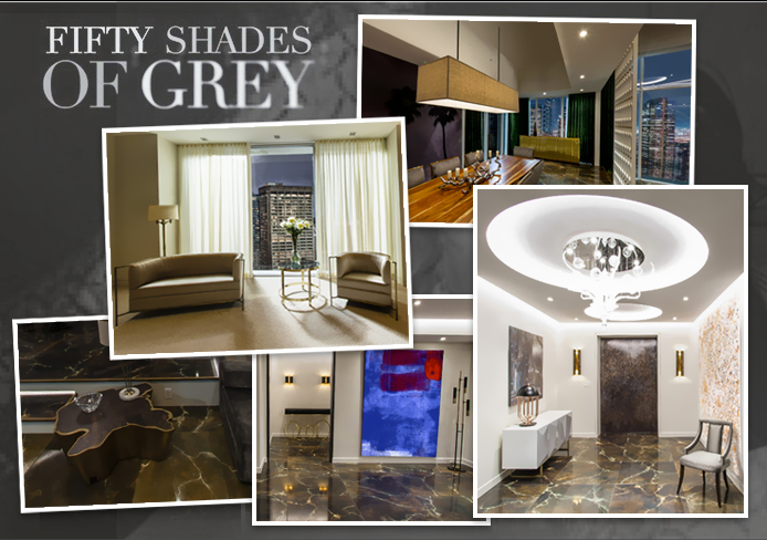 Fifty shades of grey decor behind the scene merci media for Decoration 50 nuances de grey