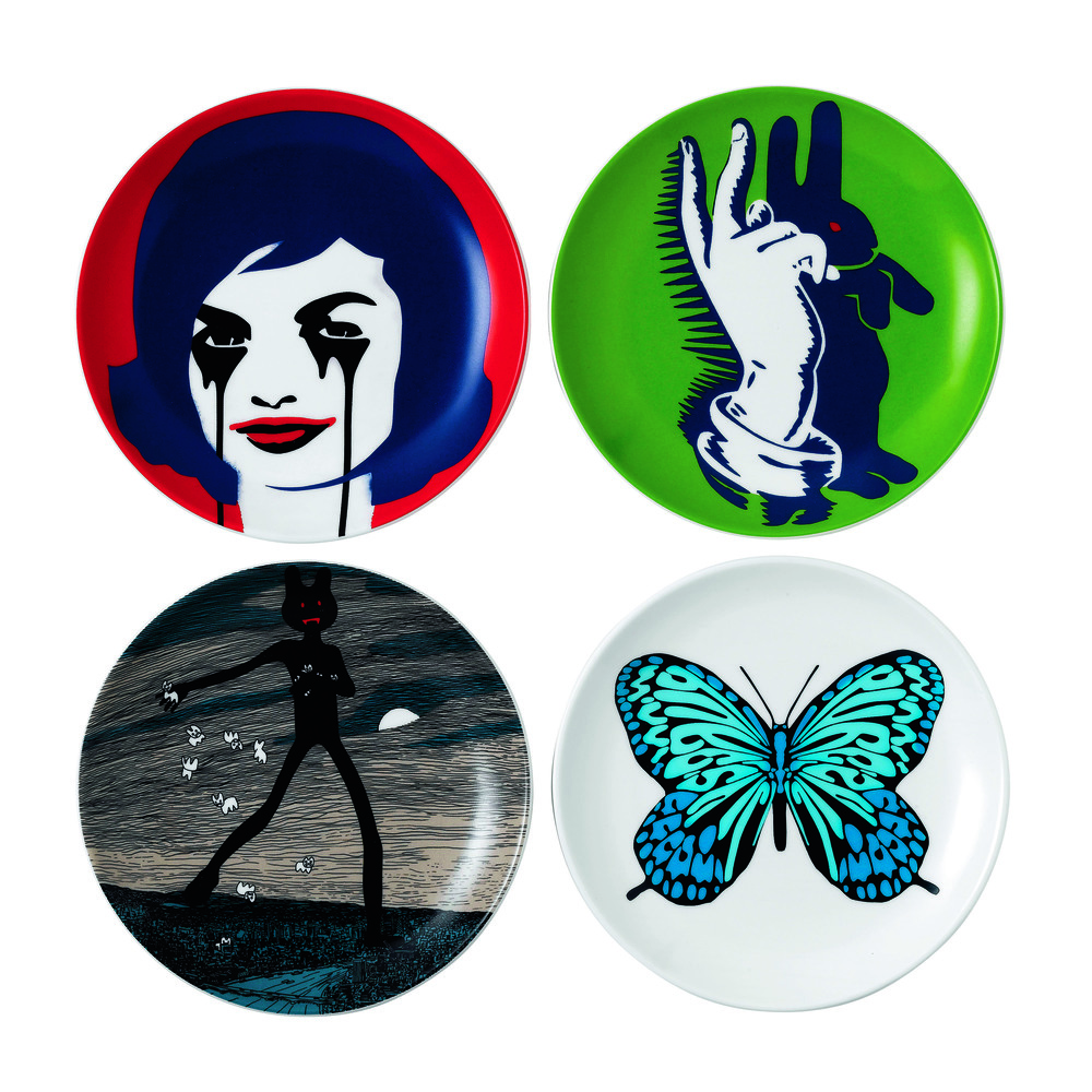 Street Art - Pure Evil  Plates 17cm Set of 4 HK$1,200.jpg