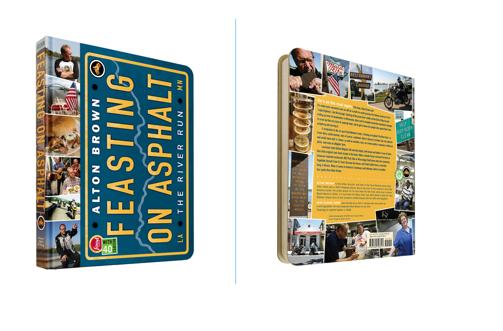 Feasting On Asphalt -  7.5 X 9.25 in., 208 pg., exposed board hardcover with fold-out map. Design; Galen Smith, Liam Flanagan, Lili Schwartz // Photos; Jean-Claude Dhien // Publisher; Stewart, Tabori & Chang
