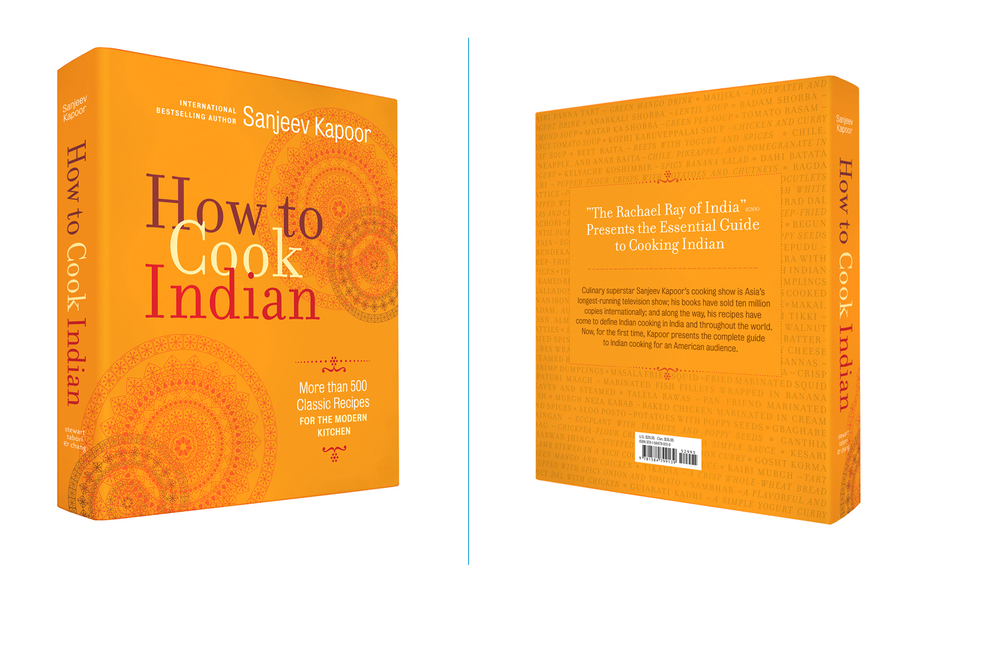 How to Cook Indian -  8 X 10 in., 612 pg., hardcover with spot uv. Design; Galen Smith, Danielle Young // Publisher; Stewart, Tabori & Chang