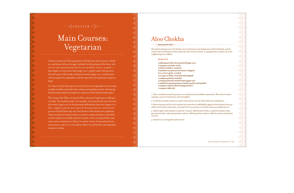 Chapter opener -  Chapter introduction and recipe, two-color interior with tints of each color