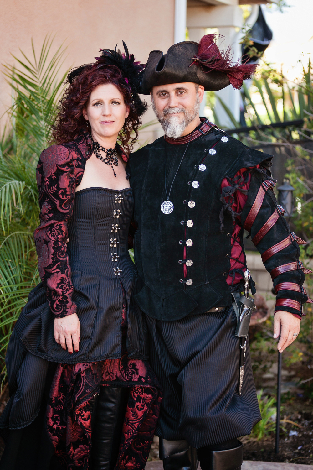 The Corset Gown Outfit and the Livingston Doublet can be found in our Steampunk Collection.