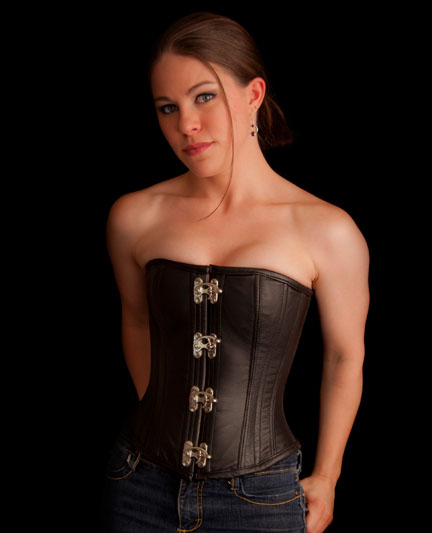 Leather Overbust Corset — Pendragon Costumes 052253d3464c