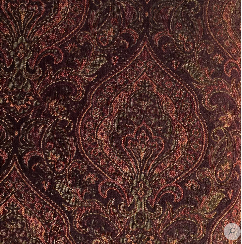 Dark Burgundy Damask