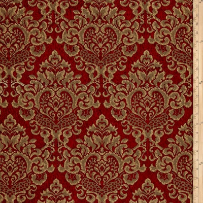 Damask Chenille Jacquard Ruby