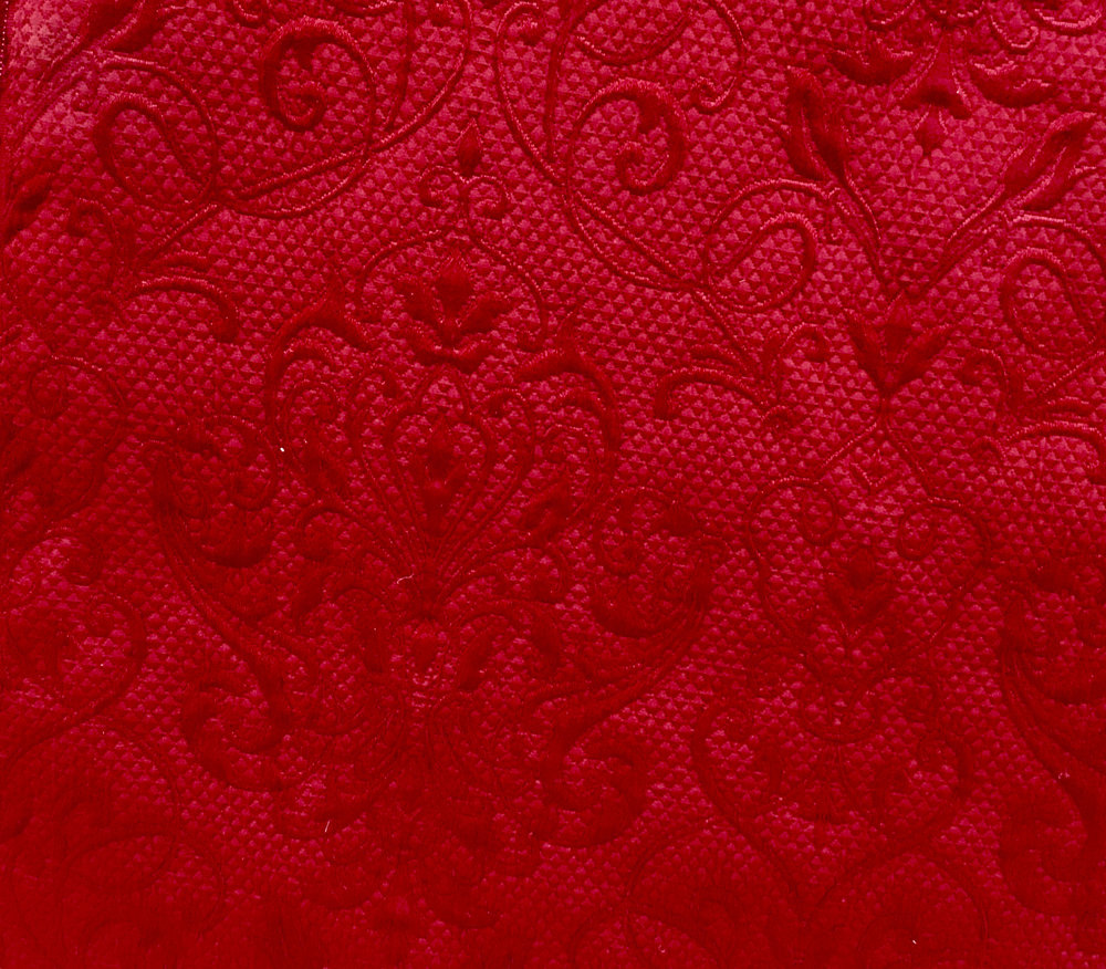 damask mattelasse red