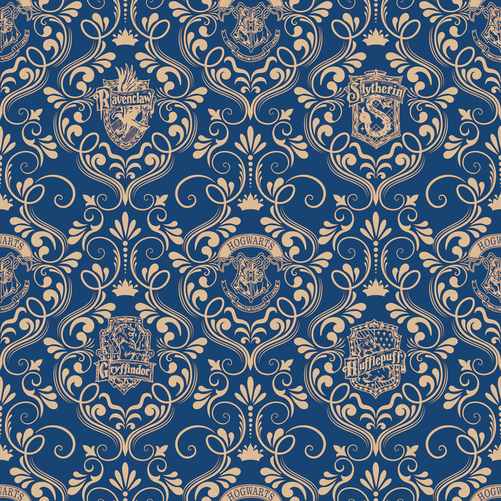 Harry Potter damask blue