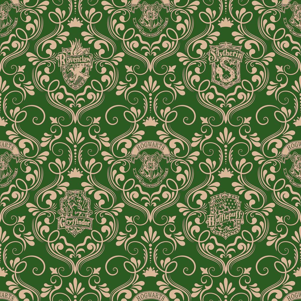 Harry Potter damask green