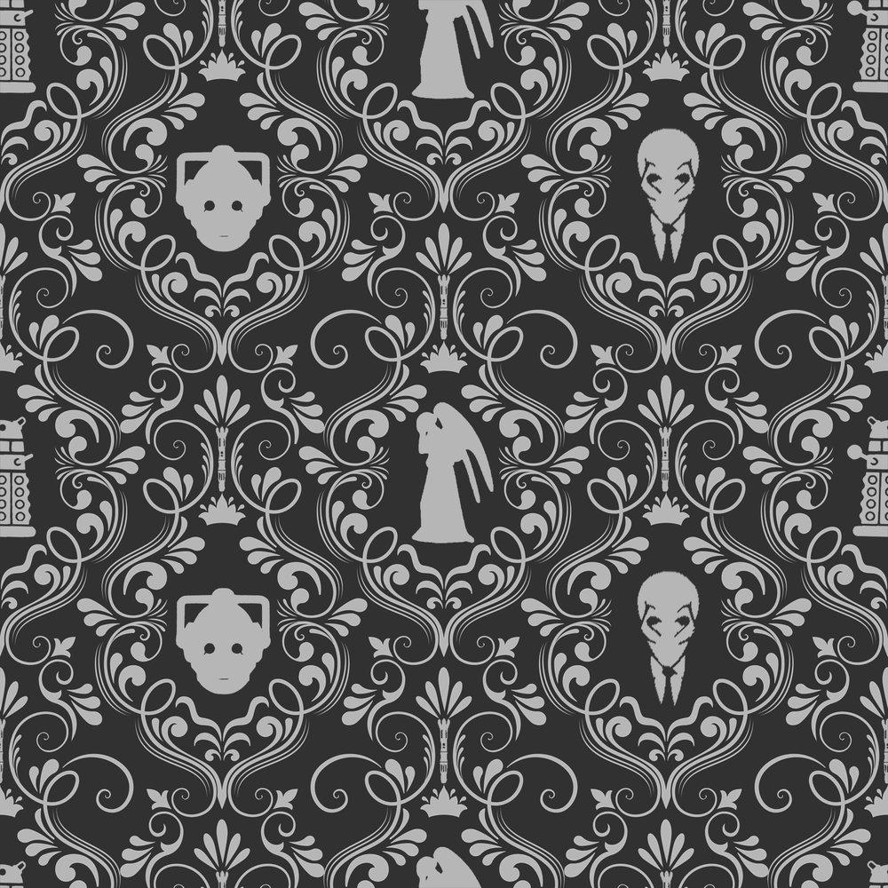 Villains Damask black