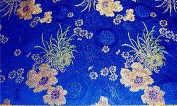 Floral Brocade Royal Blue