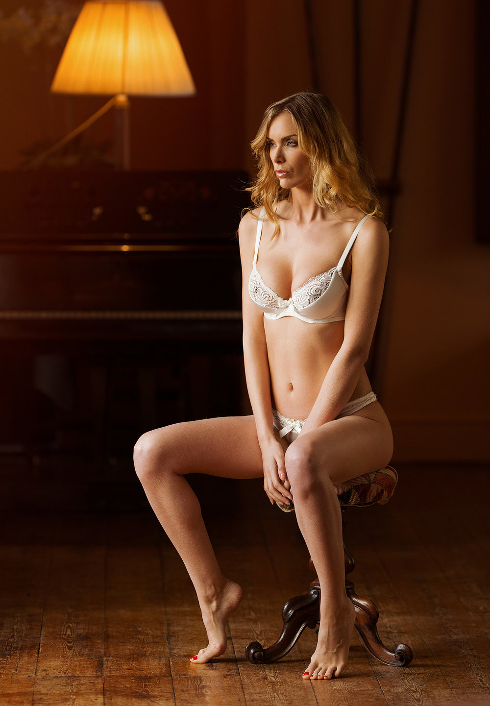 Emma Harris Lingerie editorial photoshoot by Karl Bratby at Holme Pierrepont Hall