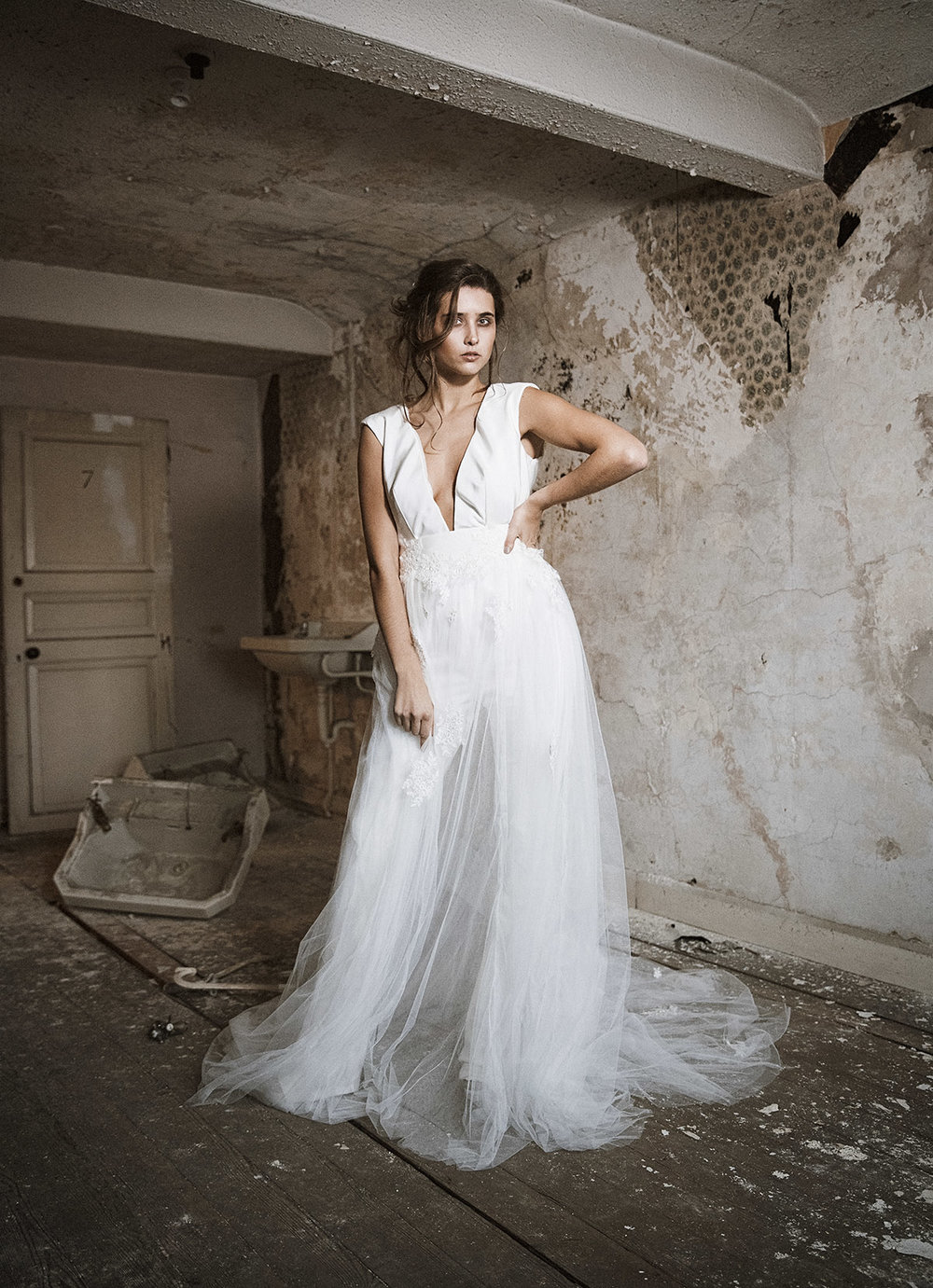 Karl Bratby Commercial Photography photoshoot for Couture Brdial Wear designer Danielle Sykes