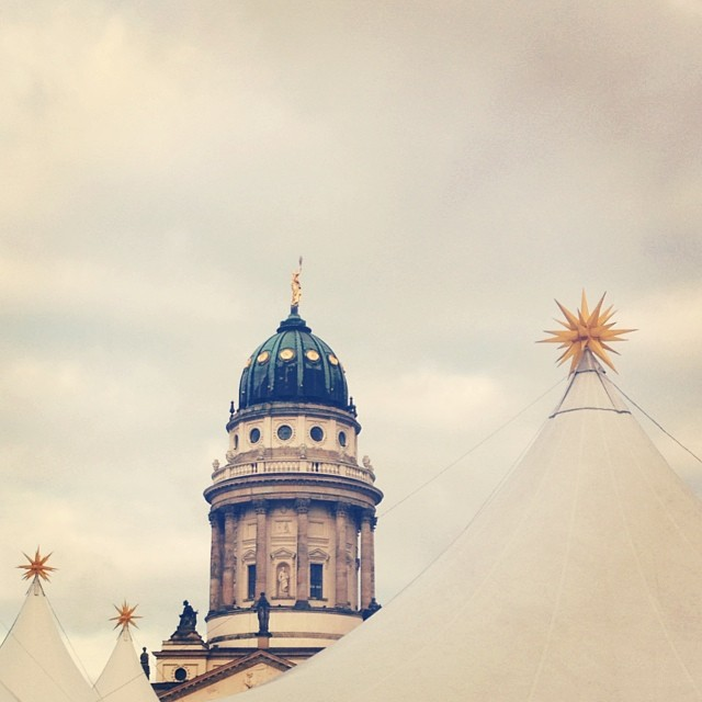 07/12/2013 • Tops of tents at a Christmas market