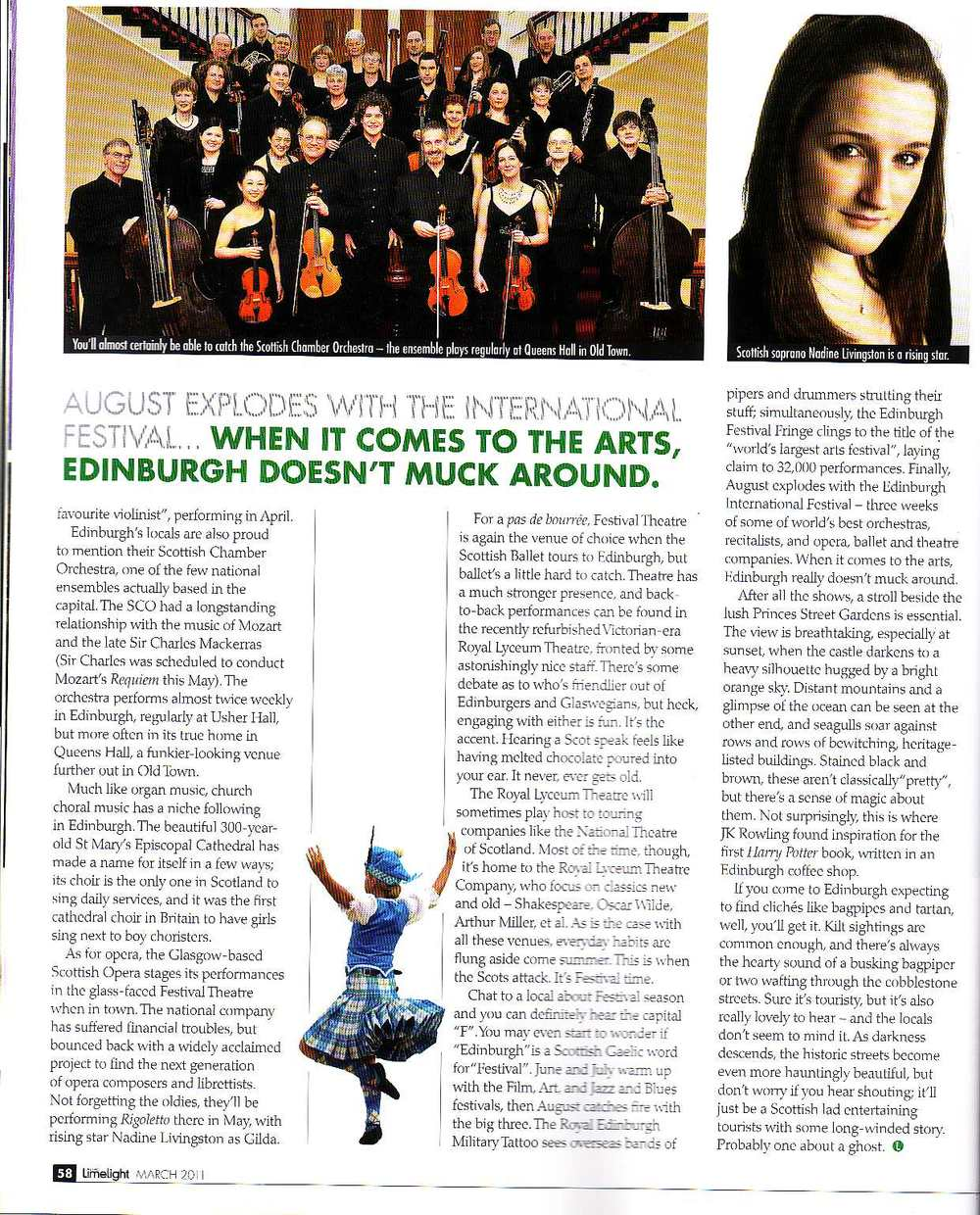Wendy Lang Edinburgh article Limelight March 2011 p2