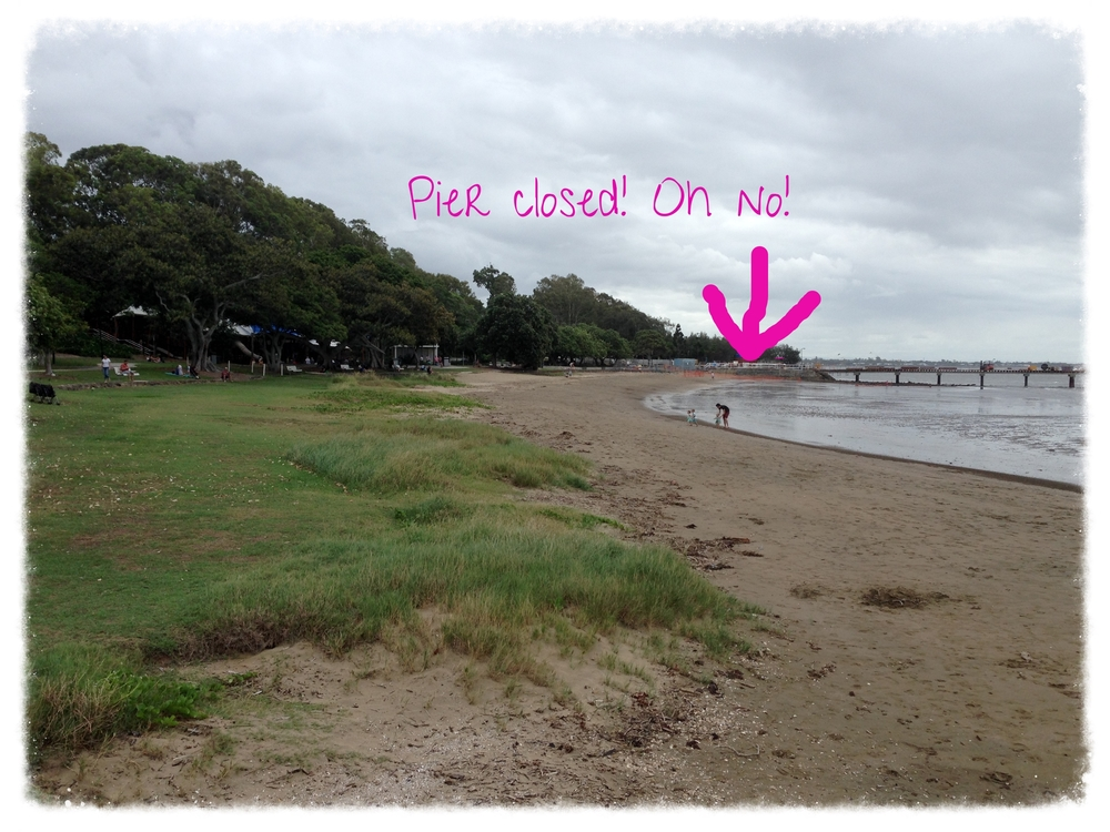 Plan A: Thwarted by the Shorncliffe Pier Renewal Project.