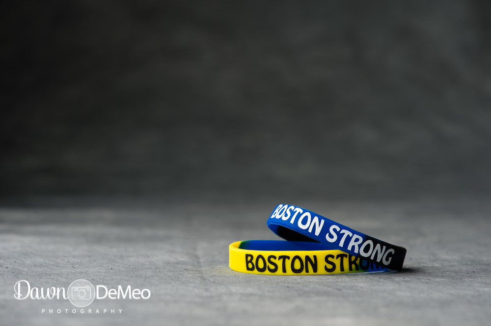 "Day 39 - Feb 8: Hope. These are the bracelets that were sold at local stores after the Boston Marathon Bombings of April 2013. The phrase ""Boston Strong"" has come to sympbolize unity, courage, and hope."