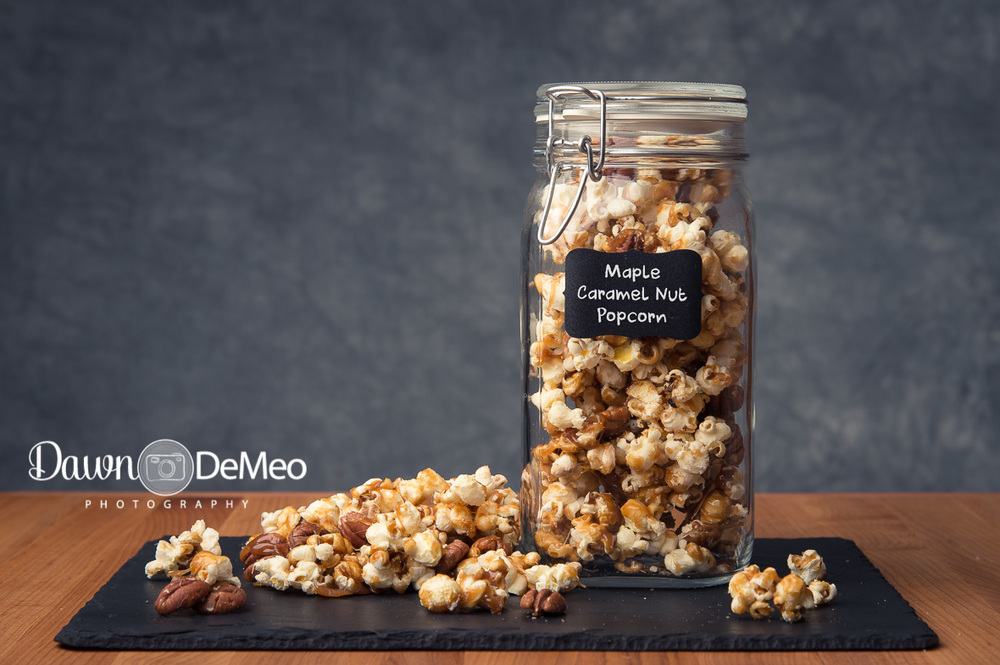 Day 51 - Feb 20: Perfect.Maple Caramel Nut Corn is the perfect marriage of salty and sweet, crispy and crunchy!