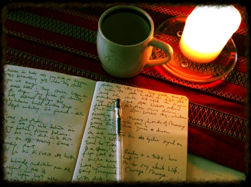 Morning pages & black.