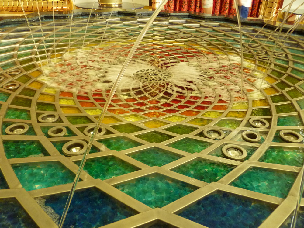 Image from my own collection from our 2011 trip.   The fountain at the Burj Al Arab.
