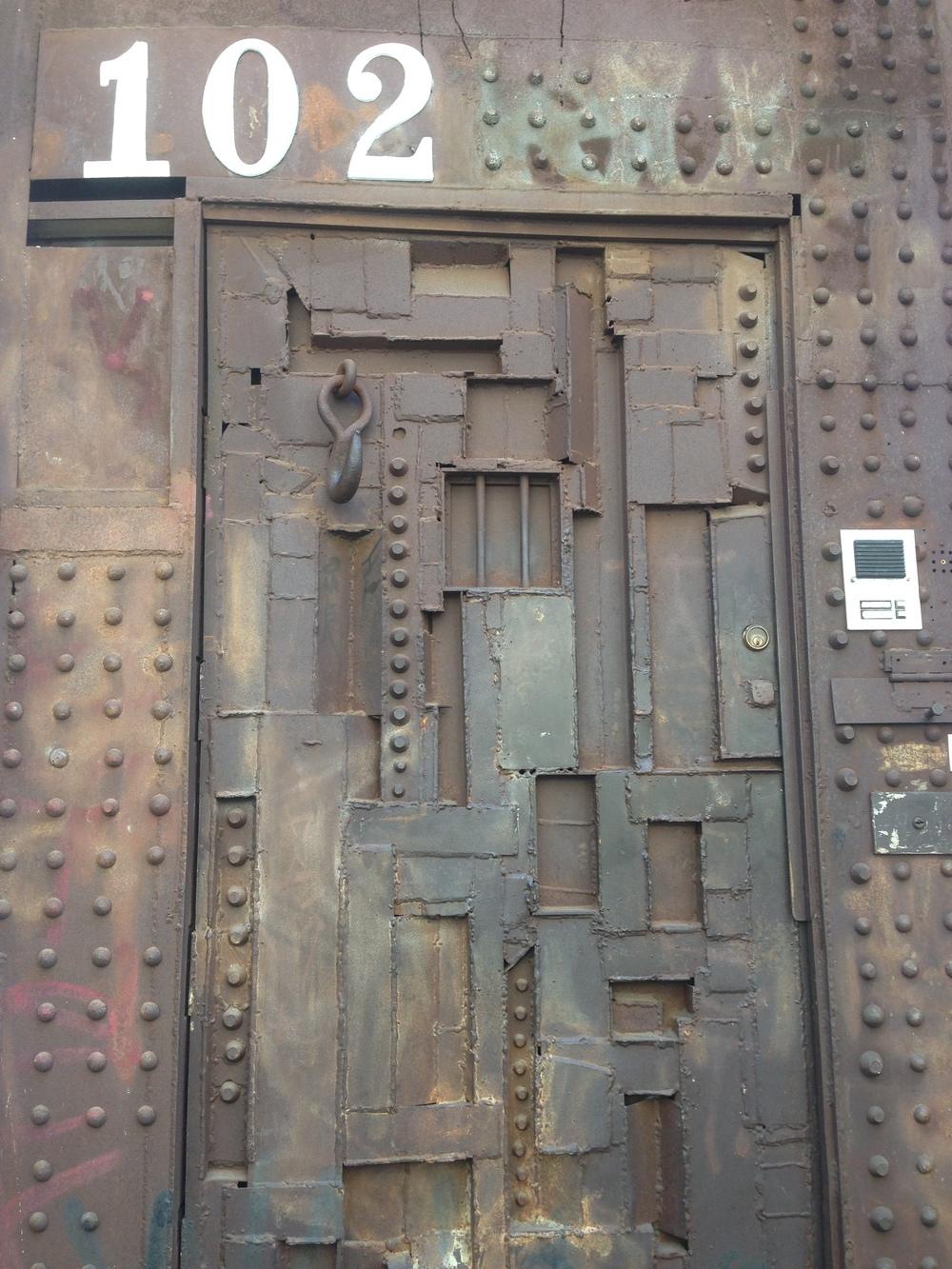 Artistic doors in Soho.