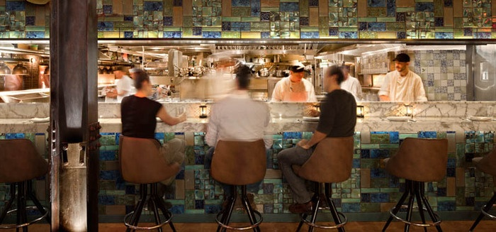 Catch  NYC. Image via  here   21 Ninth Avenue in Meatpacking. 212.392.5978 for reservations.