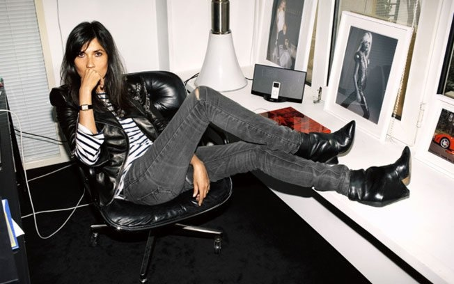 Emmanuelle Alt. Image via here. I love her name. Emmanuelle. So chic. She is, as I am sure you know the editor of Vogue Paris and black is her colour.