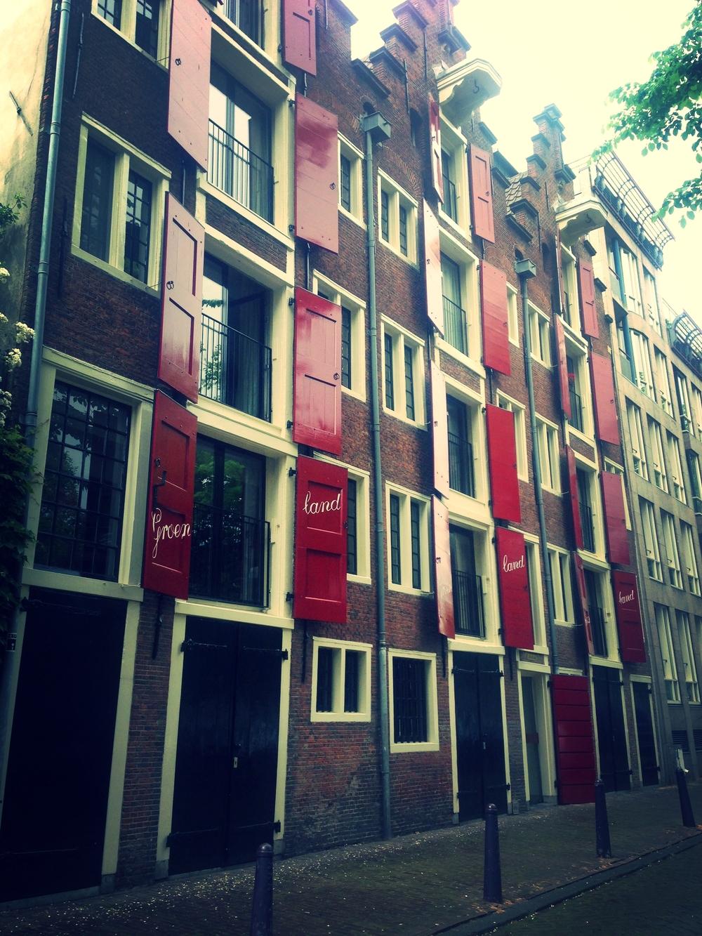 Taken with my iphone.  In Amsterdam, The Jordaan
