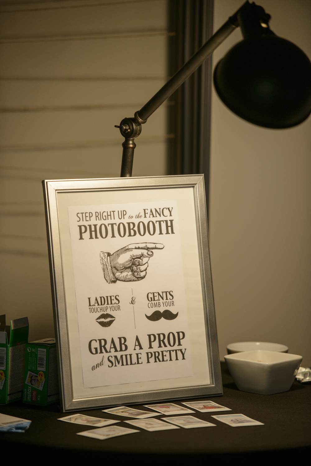 Our photo-booth (with Polaroid camera) was a great success.