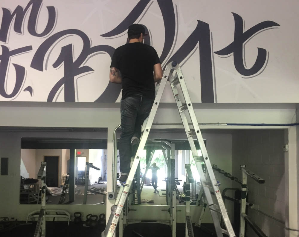 Hand painted gym mural  Albany New York