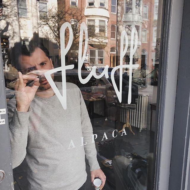 Little window lettering last weekend for @fluffalpaca . . . #lettering #handlettering  #brushlettering #signpainting #typography #goodtype #typegang #typestrate #typematters #typeyeah