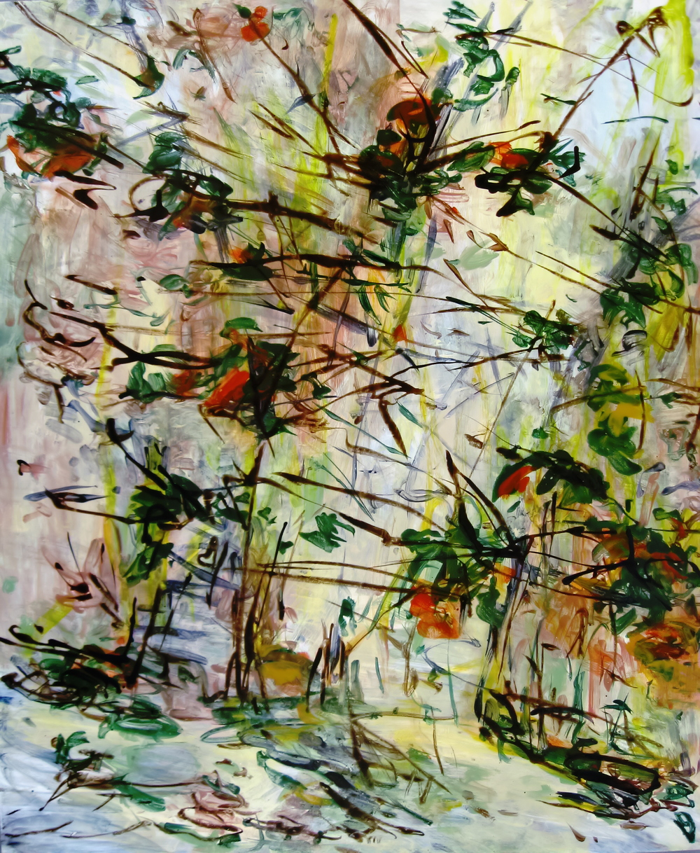 Fall Light, acrylic and ink on wood, 2009, 48''x40''