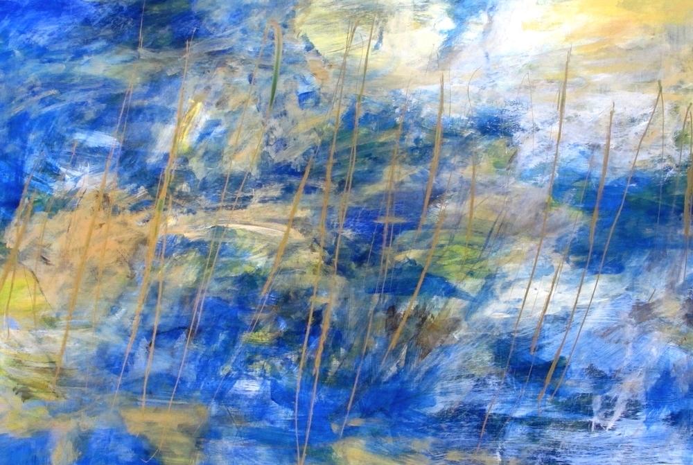 Atmosphere 7, acrylic on aluminum, 24 x 36, 2014