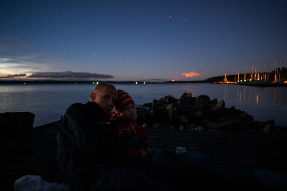Me and Aura at a star trek on the shore. Sony A7 & ZEISS Batis 2/25 – f/2.0, 1.6sec, ISO400, raw Photograph by Toni Ahvenainen