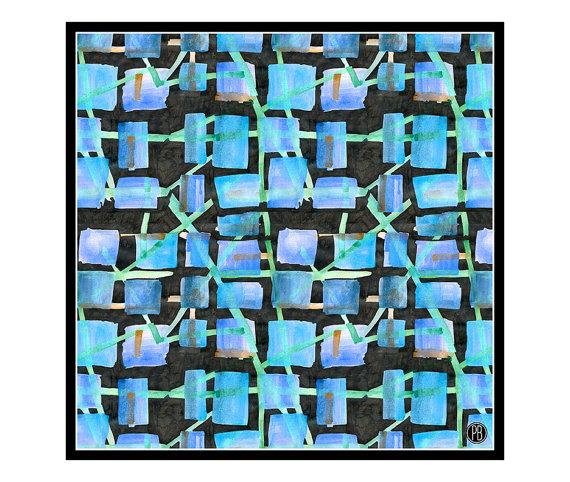 Maze Silk Scarf on Etsy