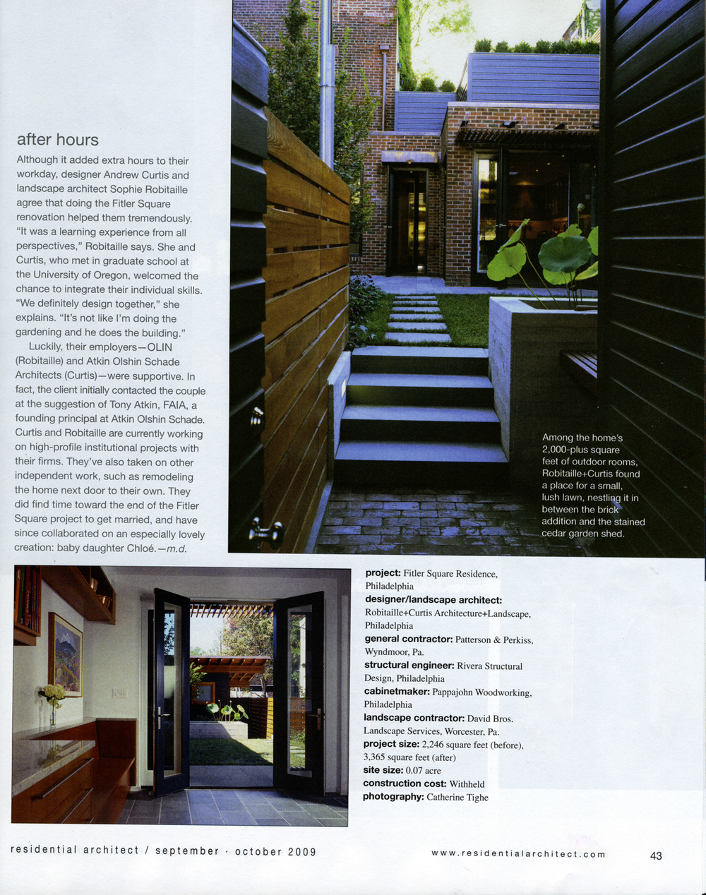 Residential architect magazine robitaillecurtis for D architecture magazine