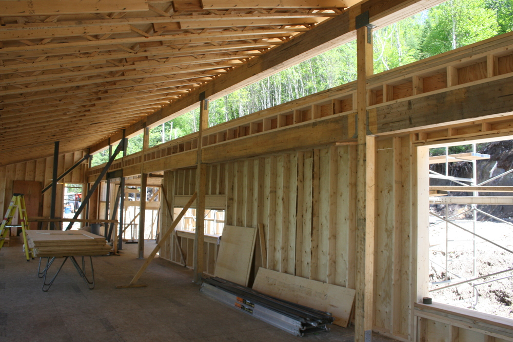 Clerestory window runs the length of the house
