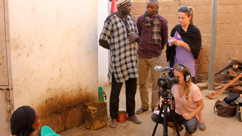 Filming Hapsatou's story in Senegal.