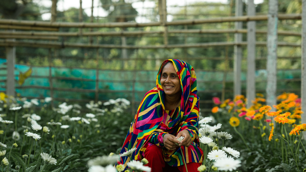 Now, Sajeda, 34, is a super star in the growing flower industry in Bangladesh. Photo by Morgana Wingard