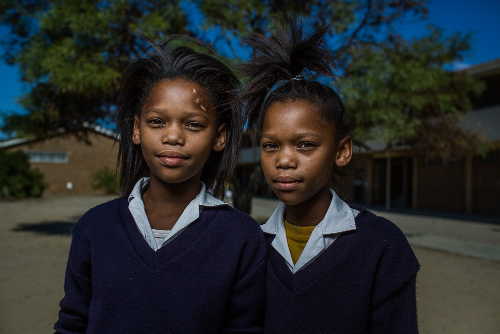 "MITCHELLS PLAIN, SOUTH AFRICA:  March 9, 2016 - Twanita and Tiara Williams are students at Talfesig Primary School in Mitchell's Plain, a township outside of Cape Town, where Hillsong Africa Foundation provides an after school program called ""Lights On"" for primary‐aged children. They aim to add value to children's lives and instill in them a sense of purpose and worth, and hope for the future. They also work on addressing key issues the children face living in underprivileged communities, equipping them to deal with what life throws their way and how to move onwards and upwards in life. Photo by Morgana Wingard"