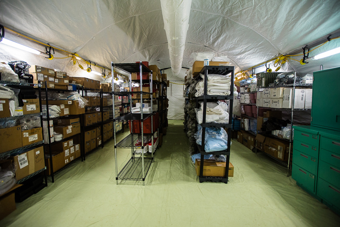 The hospital's supply room.