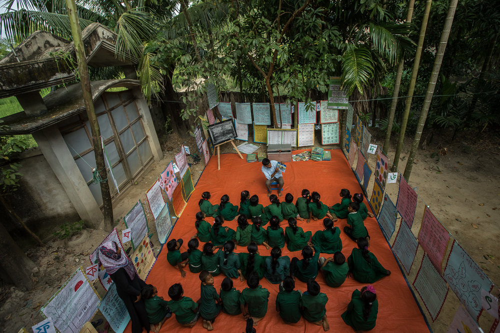 COX'S BAZAR, BANGLADESH: October 25, 2016 - The READ project initiated Community Reading Camps (CRCs) outside of school hours to increase opportunities for children to read.  Photo by Morgana Wingard