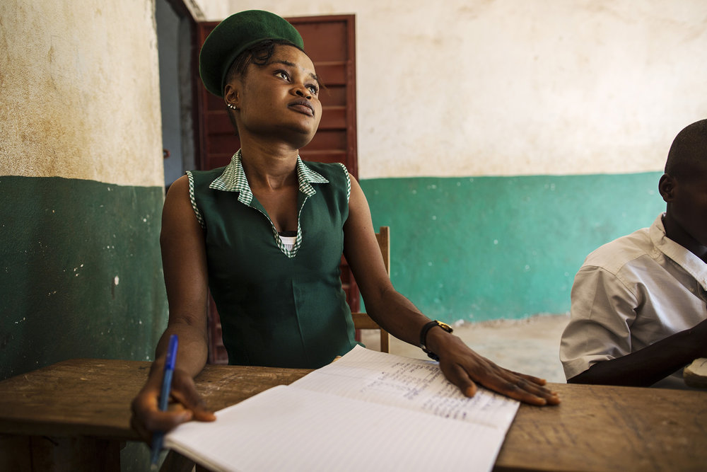 Mariatu Bangura, 18, of Rokupr, attends Kubra Agricultural Secondary School. Her hope is to become a nurse after finishing school.