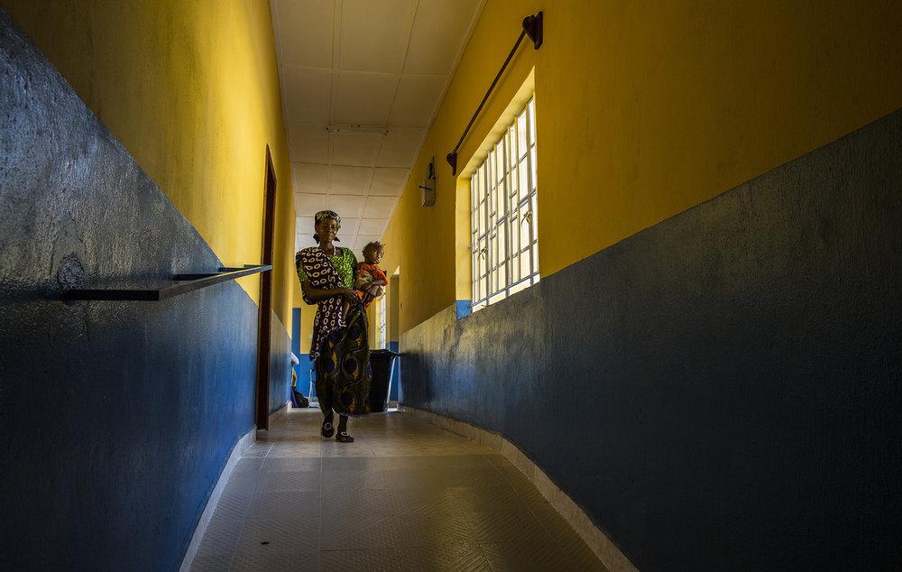 A visitor walks through Konsho CHP.