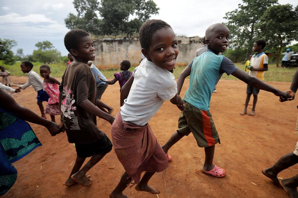 Children play at the Children's Corner. Photo by Josh Estey.