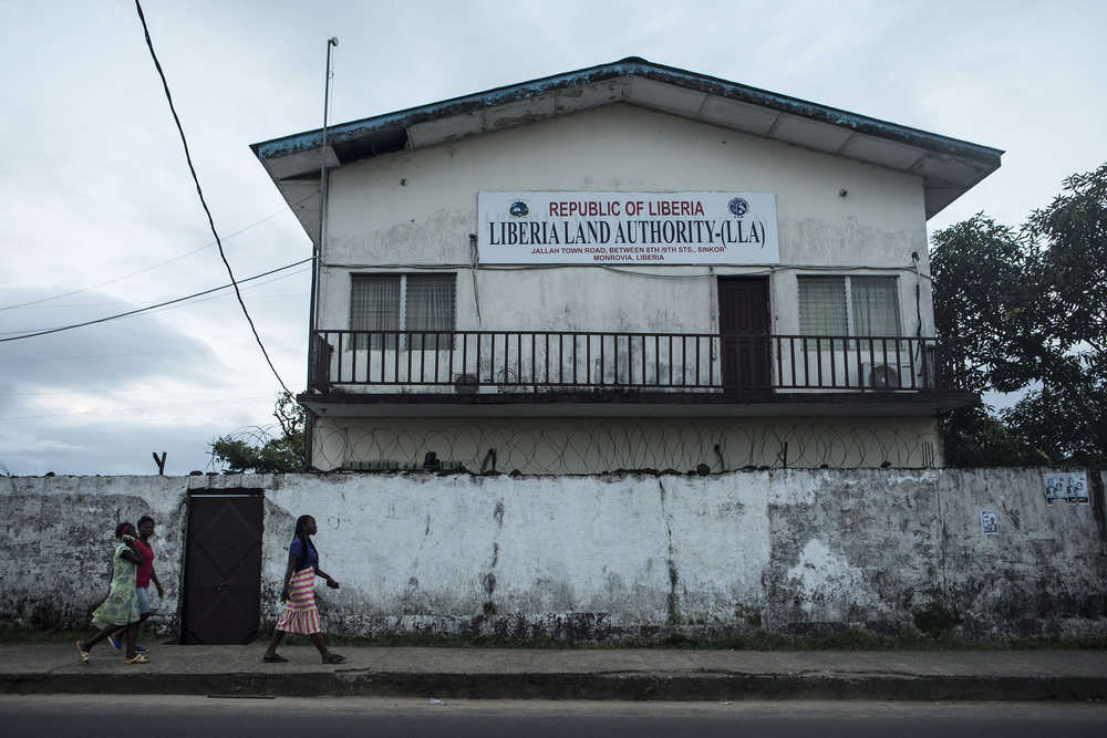 The Liberia Land Authority building located in Monrovia, Liberia. Photo by Sarah Grile.
