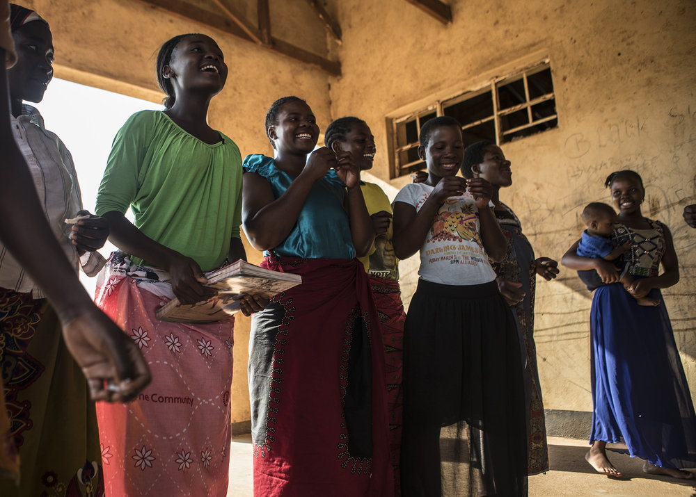 NSANAMA, MACHINGA DISTRICT, MALAWI: Nov. 14, 2017 - The Determined, Resilient, Empowered, AIDS-free, Mentored and Safe (DREAMS) initiative is an ambitious $385 million partnership to reduce HIV infection among adolescent girls and young women (AGYW) in HIV priority areas within 10 sub-Saharan African countries that account for nearly half of the new HIV infections that occur among AGYW globally in 2014. While the main goal of the DREAMS initiative is to keep AGYW AIDS-free, the benefits of core package go well beyond the disease. DREAMS upon the USAID decades of experience empowering young women and advancing gender equality across sectors of global health, education, and economic growth, USAID partners with community, faith-based, and non-governmental organizations whose credibility within communities and capacity to mobilize significant numbers of volunteers allow USAID to address the structural inequalities impacting girls vulnerability across multiple areas. 
