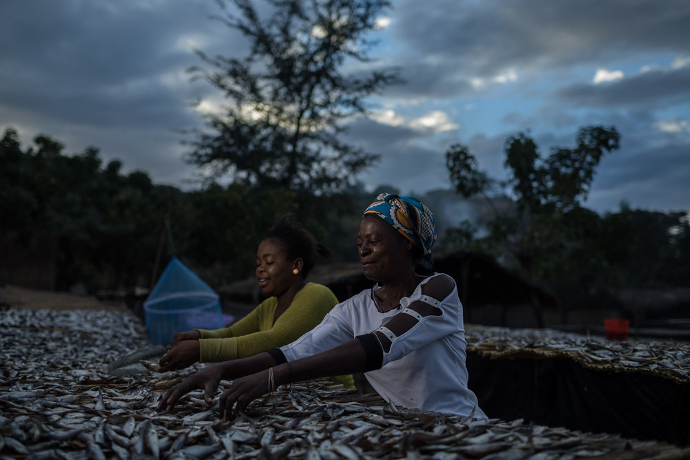 MASAKA BAY, MALAWI - May 25, 2018:  Through funding from USAID PACT Malawi started the Fisheries Intergration into Society and Habitats (FISH) project to empower local community's to manage and protect the fish populations of Lake Malawi. Beach Village Committee are created through volunteers in community's by PACT. Nkhudzi Bay Beach Village Committee is one of 210 community based organizations that PACT and Partners work with on the FISH project. PACT also helps these members grow and advise them on how to become self sustainable. Photo by Morgana Wingard