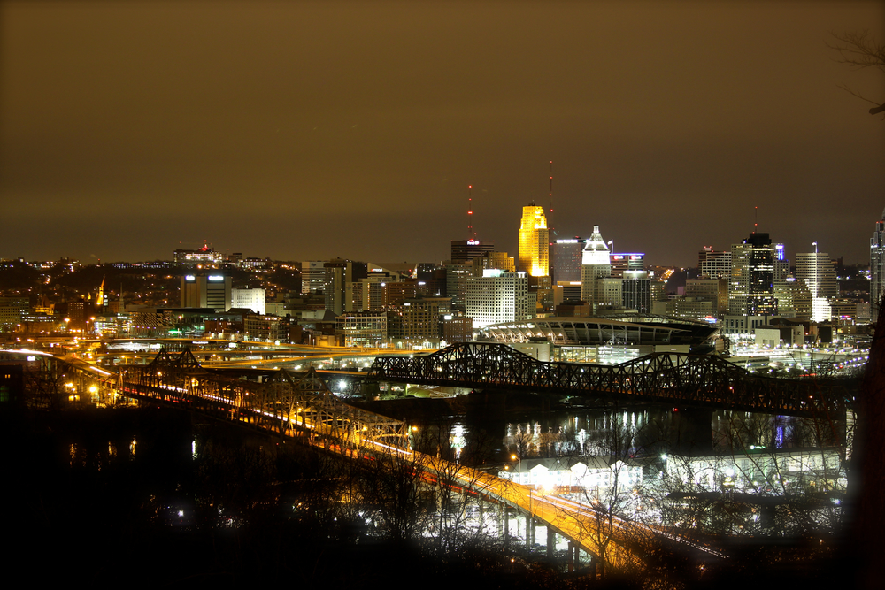 Cincinnati Night Skyline