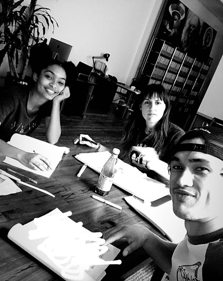 Table read with Yara Shahidi (Natasha), Charles Melton (Daniel) and director Ry Russo Young.